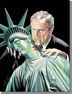 Bush Biting Liberty's Neck