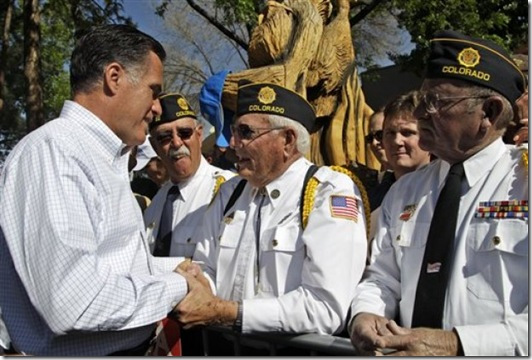 Romney with Vets in Craig CO - Memorial Day