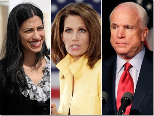 Huma Bachmann and McCain