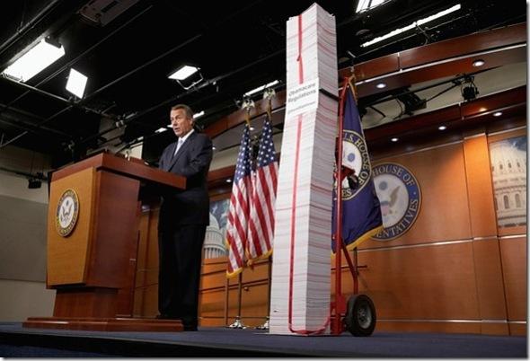 Boehner wi ObamaCare Regulations Thus Far