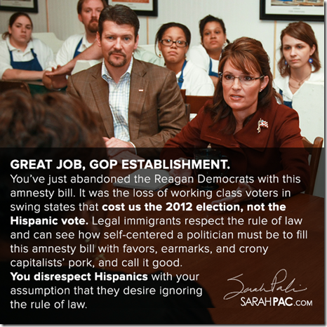 Sarah... Great Job, GOP Establishment