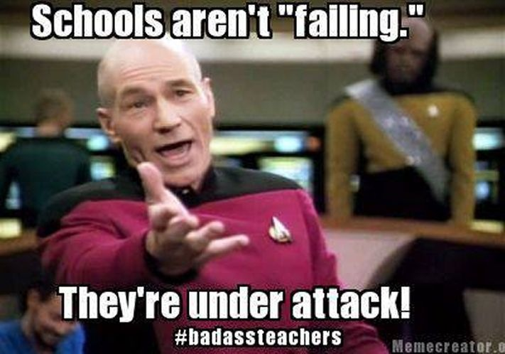 Image result for failing schools meme