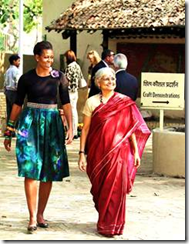 Michelle in India