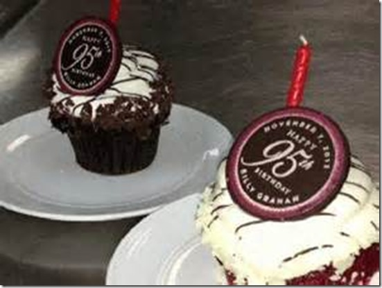 Billy Graham 95th Cupcakes