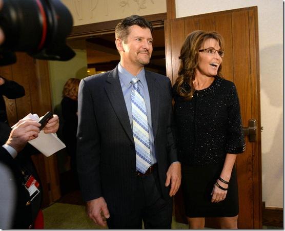 Palins Arrive at Billy Grahams 95th