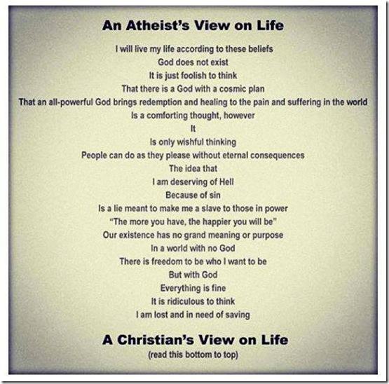 Atheist vs Christian View of Life