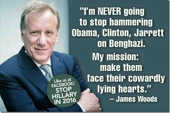 James Woods - Stop Hillary in 2016