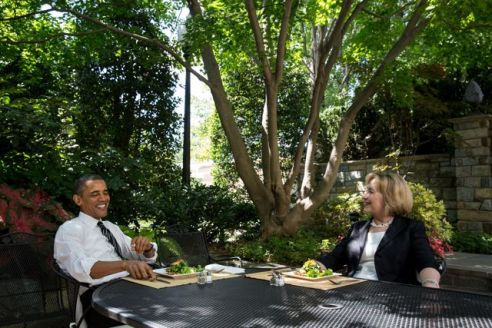 Obama-Hillary Lunch