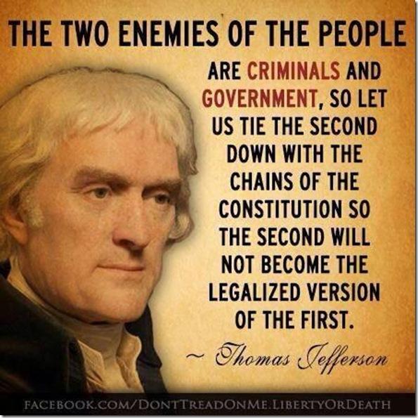 Thomas Jefferson... Two Enemies