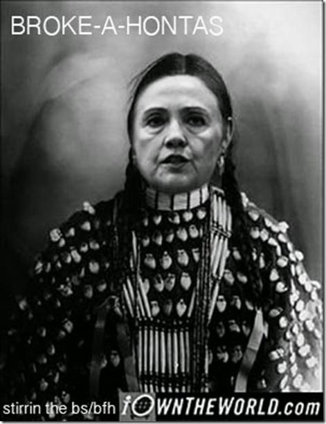 Hillary Clinton Brokeahontas