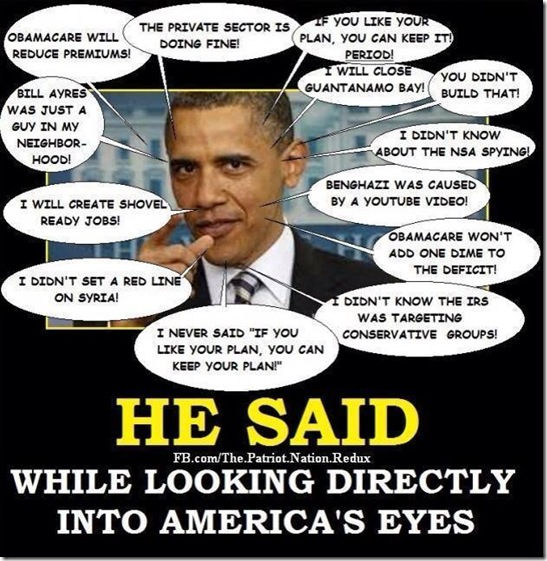 Obama Said... Looking Into Americans Eyes