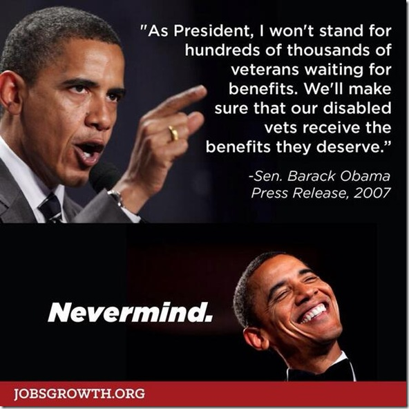 Senater Obama on Veterans Benefits