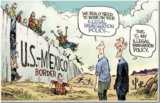 US Mexico Border Cartoon