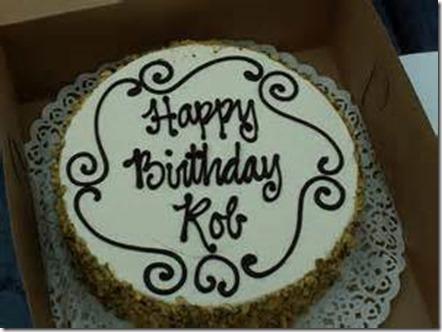 Happy Birthday Rob Cake