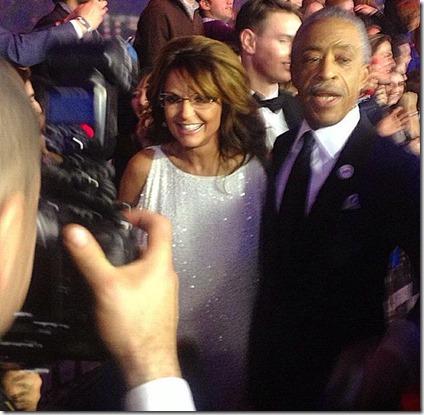 Palin and Sharpton at SNL40 Event