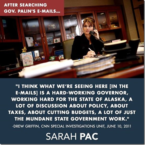 Palin Cleared of All Wrong Doing